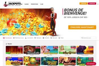 Bilan de ce que vous propose le casino en ligne Jackpots.ch